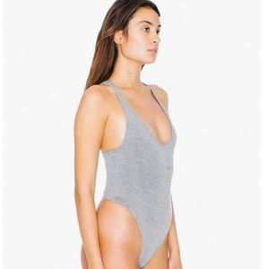 American Apparel Grey Bodysuit